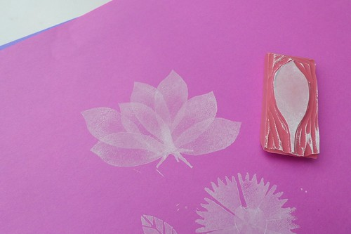 flower petal stamped