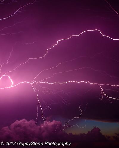 sky storm rain clouds sunrise lightning