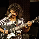 Lianne La Havas performance live on 9.11.12 in WFUV's Studio A.  Photo by Claire Lorenzo