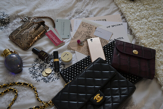 daisybutter - UK Style and Fashion Blog: london fashion week, SS13, LFW SS13, what's in my bag, chanel, korres, sony ericcson, elizabeth arden, steve madden