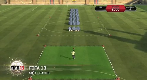 FIFA 13 Skill Games Guide - Bronze, Silver and Gold Challenges Tips