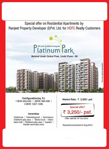 Special offer on Residential Apartments by Ranjeet Property Developer - Shree Siddhivinyak Platinum Park, Behind Undri Octroi Post, Undri, Pune - 60 by jungle_concrete