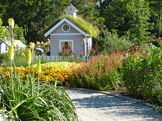 Back home.  The Children's Garden at the Coastal Maine Botanic Garden