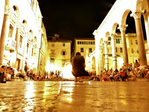 Fire Dancer in Diocletian's Palace, Split