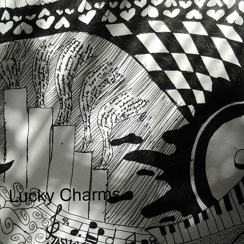 black and white art work by Lucky Charms