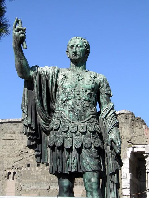 Bronze statue of emperor Nerva (96 AD – 98 AD), Forum of Nerva, Rome