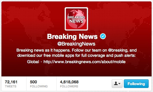 (1) Breaking News (BreakingNews) on Twitter