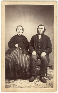 Dignified couple: CDV