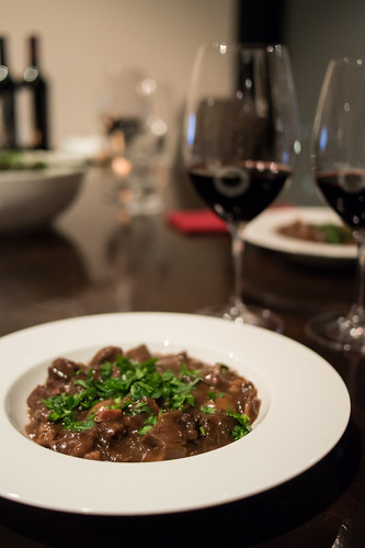 Home cooked beef bourguignon
