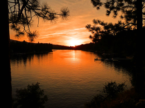 trees sunset orange sun reflection water reflections river photography photo spokane photographer post natural photos falls photograph frame amateur junglejims