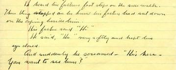 "John Steinbeck manuscript ""His Father"""