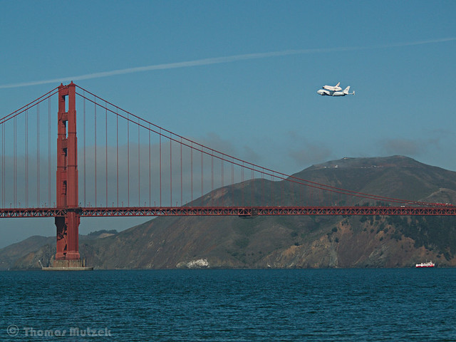 Shuttle Endeavour's last Trip, San Francisco