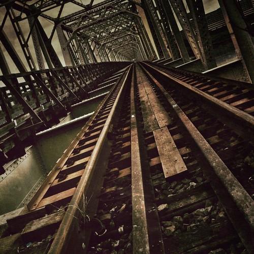 Red river iron bridge. #picfx