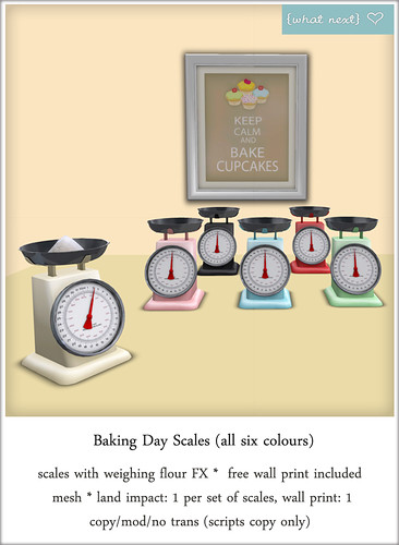 {what next} Baking Day Scales