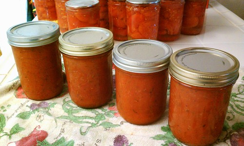 First batch of tomato sauce