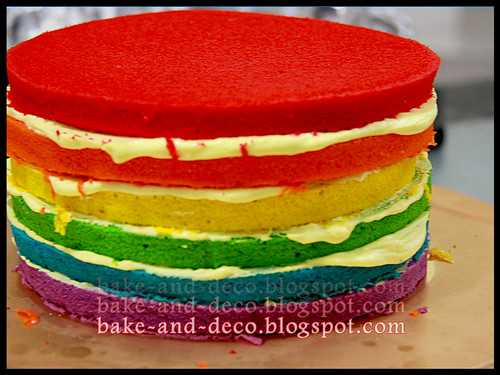 Italian Rainbow Cake + Red velvet Cake - 9 Mei 2012