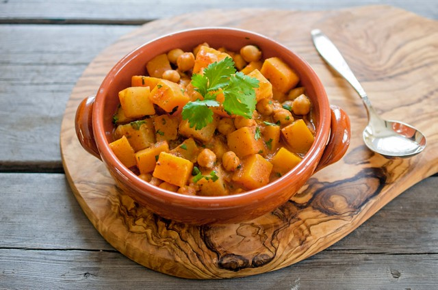 Spiced Squash, Potato and Chickpea  Stew
