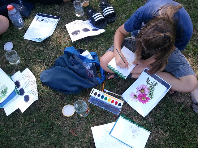 {WCAP Fieldwork!} Drawing and Painting Outdoors