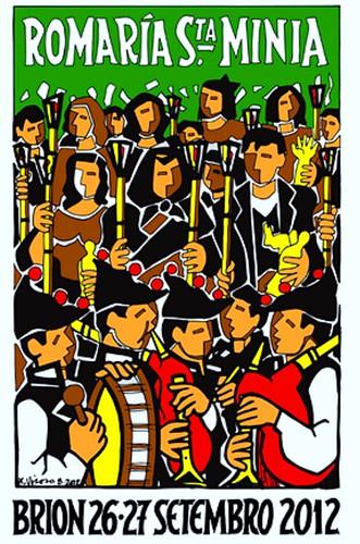 Brión 2012 - Romaría de Santa Minia - cartel