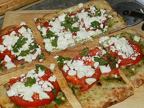 Pesto, Tomatoe & Feta Pizza (3)