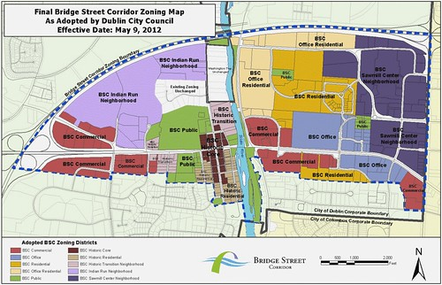 new zoning map, Dublin (courtesy of city of Dublin)