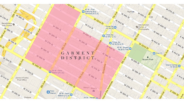 garment district map