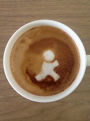 Today's latte, AOL Instant Messenger.