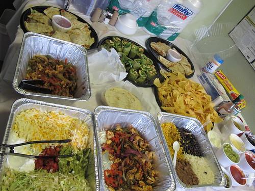 Lunch from Juan's Flying Burrito! Photo Kichea S Burt.