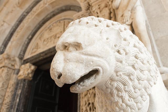 Lion sculpture - Trogir - Croatia