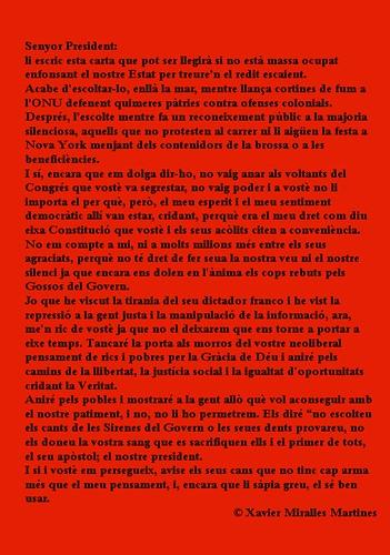 CARTA A L'EXCEL·LENTÍSSIM PRESIDENT DEL GOVERN ESPANYOL EN MARIANO RAJOY GREY by Xavier68