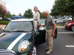 Donald and Joan Piper of Vienna VA love racing so they bought a Racing Green Cooper
