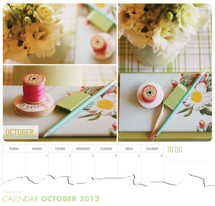 October calendar download
