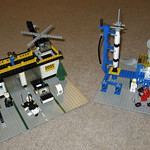Lego Town Set 588 and Lego Space Set 483