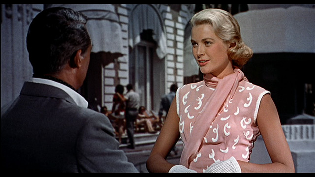 "Grace Kelly's pink dress in ""To catch a thief"", 1955"