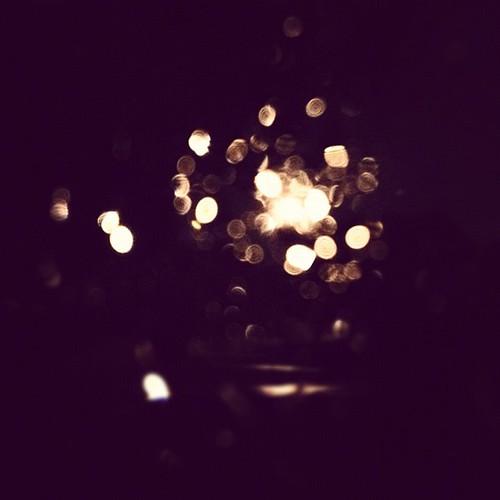 #rain #bokeh on my car window - last night