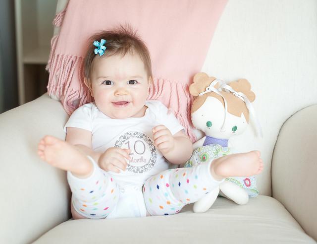 Clara ten months