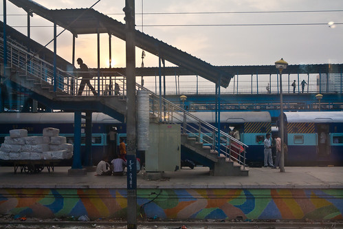 Agra, India Train Station @ Sunrise