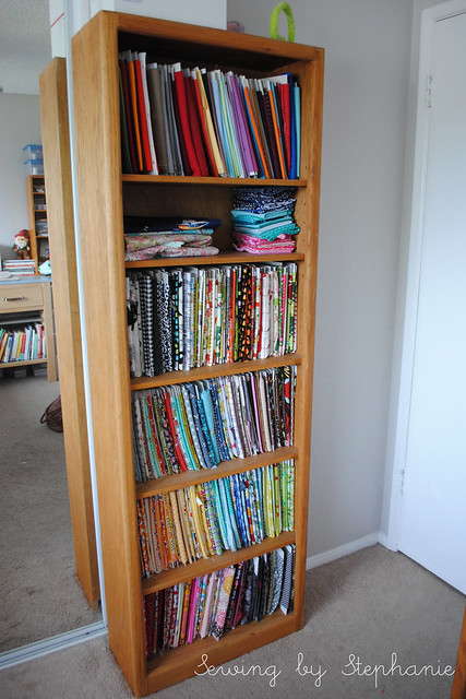 My Sewing Room: Fabric Bookcase