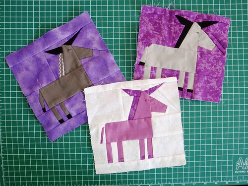 DONKEY PAPER PIECED BLOCKS - by Kristy of Quiet Play