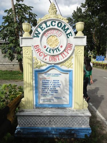 sign fiesta philippines welcome invite leyte poblacion barugo districtii