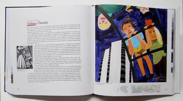 """Aavo Kokk book """"Pintsliga tõmmatud linnad"""", August Künnapu painting"""