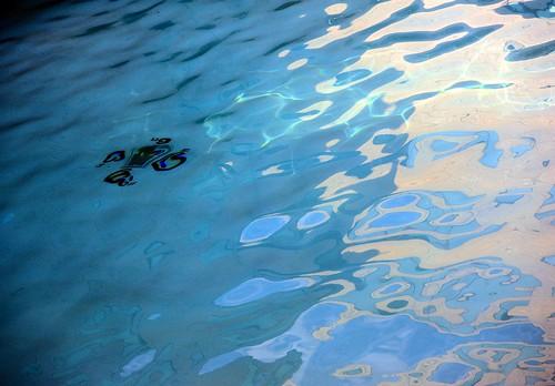 Pool above and below, Hyatt Hotel, Schaumburg, Illinois, USA by Wonderlane
