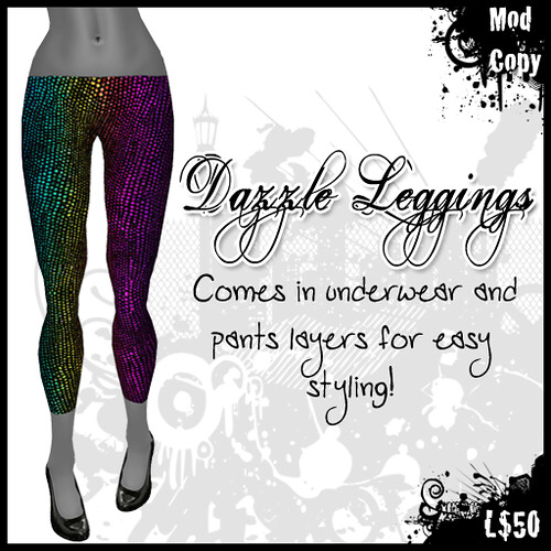 [IF] Lazy Sunday Item: Dazzle Leggings - [Rainbow]