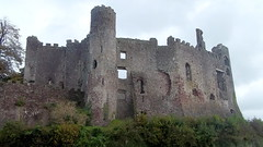 Laugharne Castle alone