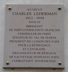 Photo of Charles Lederman grey plaque