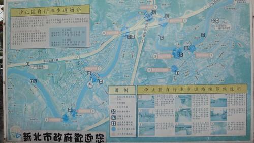 汐止基隆河自行車道地圖