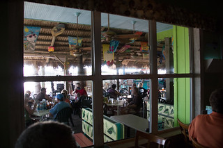 Interior looking out, Sharky's on the Pier, Venice, FL, Restaurant Review