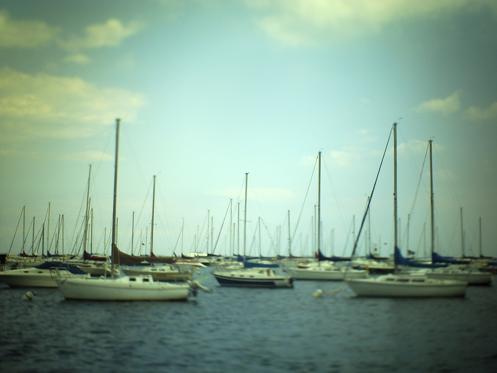 chicago tilt-shift boats