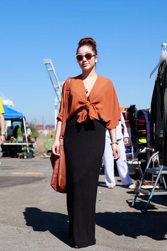 burntorange_af2012 street style, street fashion, Alameda Flea Market