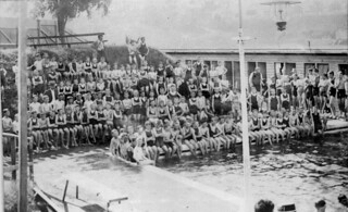 School children at an unidentified public swimming pool Brisbane 1913
